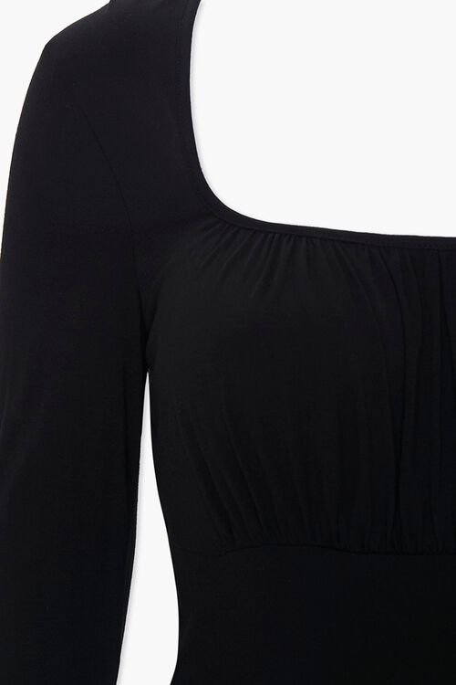 Plus Ruched Long-Sleeve Top, image 3
