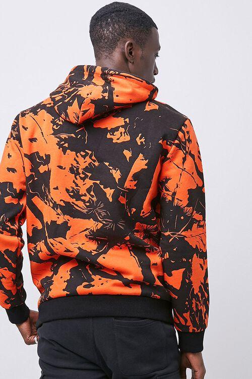 Abstract Print Fleece Hoodie, image 3