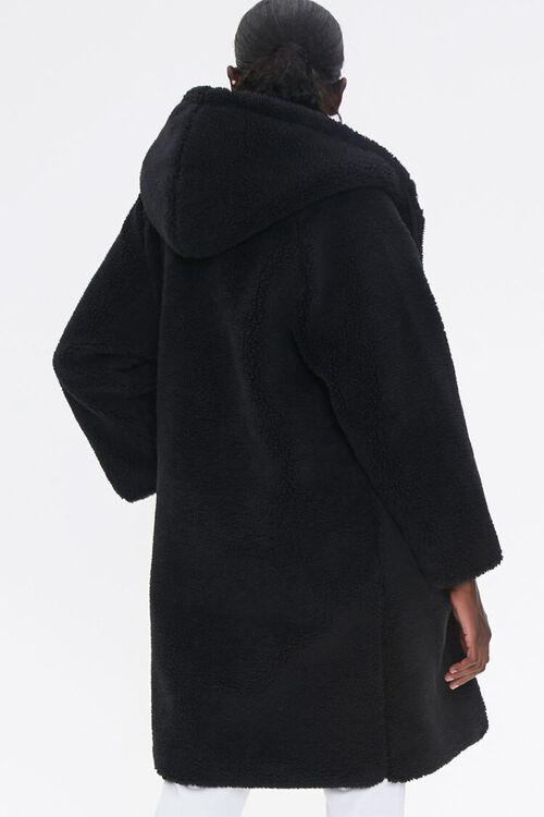 Faux Shearling Longline Hooded Coat, image 3