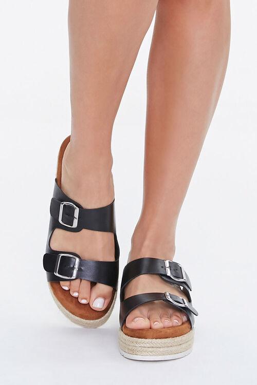 Buckled Espadrille Platform Sandals, image 4