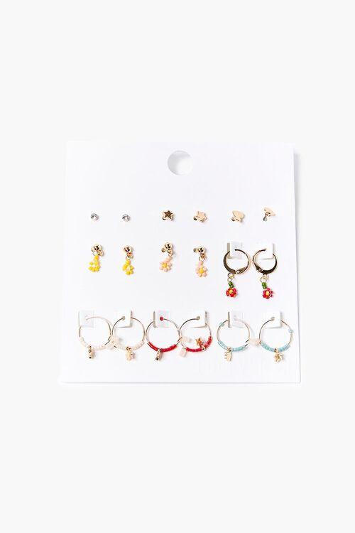 Beaded Hoop & Stud Earring Set, image 1