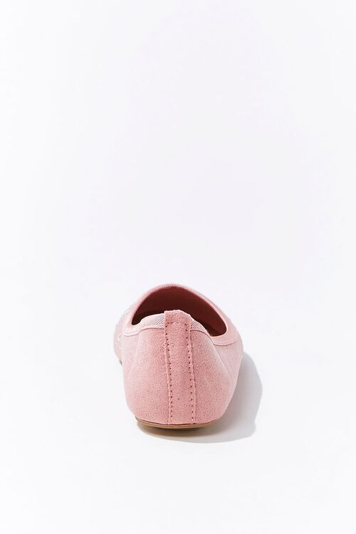 Girls Faux Suede & Pearl Flats (Kids), image 2