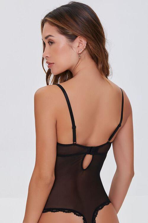 BLACK Sheer Lace Bodysuit, image 3