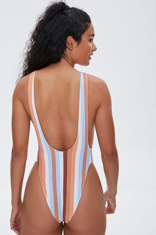 Striped One-Piece Swimsuit, image 3
