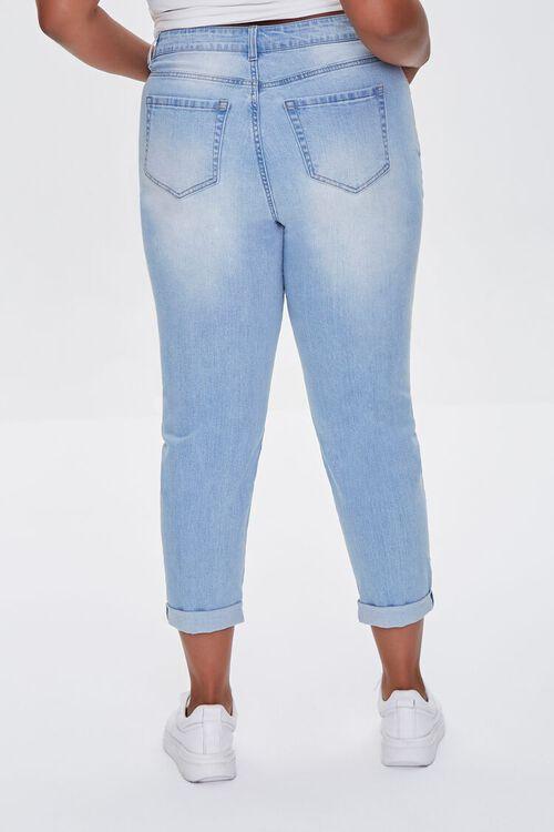 LIGHT DENIM Plus Size Premium Boyfriend Jeans, image 4