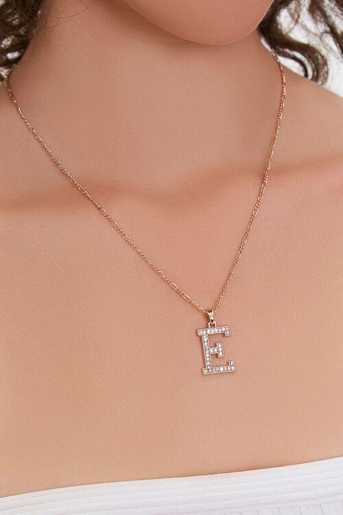 GOLD/E Initial Pendant Necklace, image 1