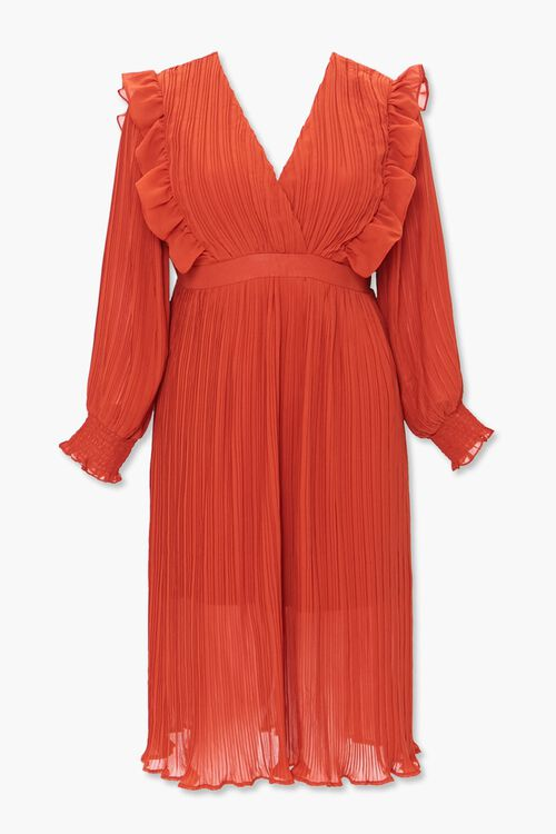 Plus Size Accordion-Pleated Dress, image 1