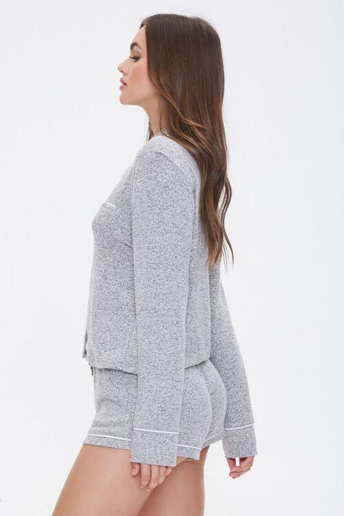 Marled Knit Pajama Set, image 2