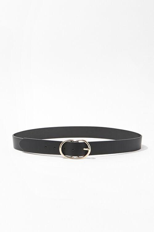 Faux Leather D-Ring Belt, image 1
