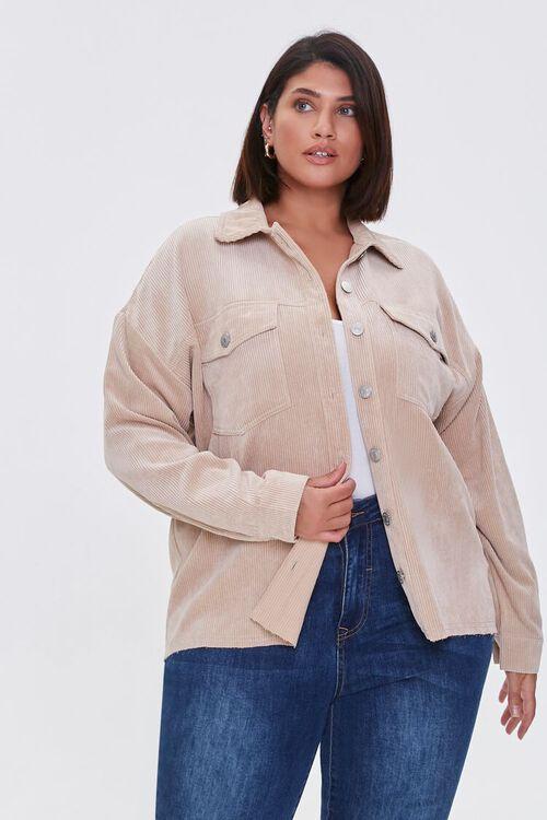 Plus Size Corduroy Jacket, image 1