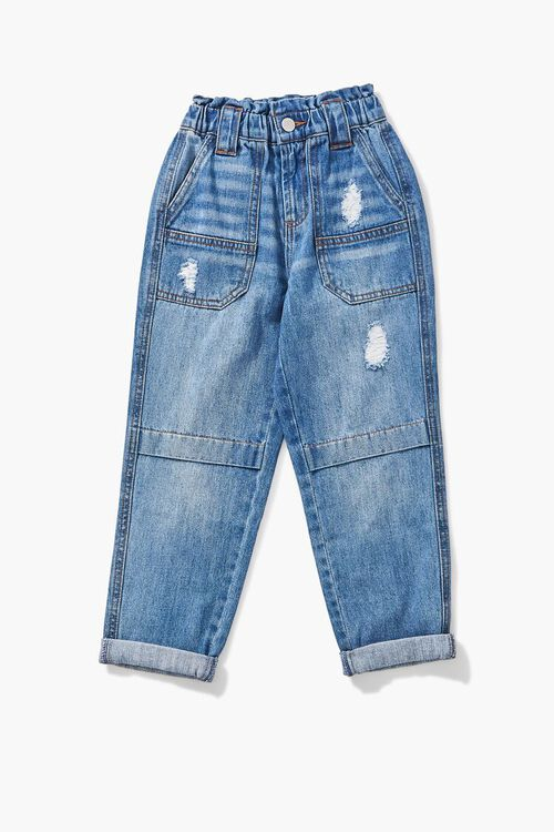 Girls Paperbag Cuffed Jeans (Kids), image 1