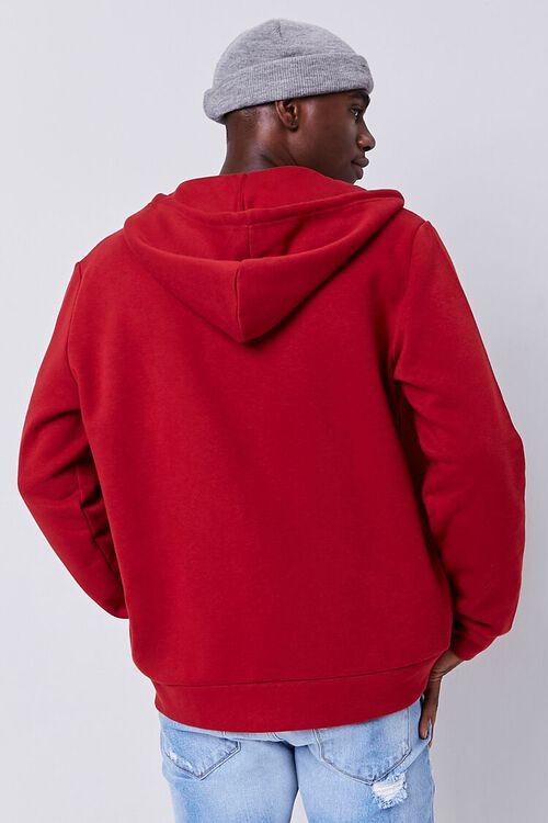 BURGUNDY Fleece Zip-Up Hoodie, image 3