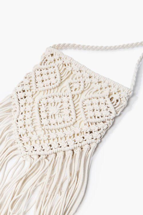 CREAM Crochet Fringe Crossbody Bag, image 2