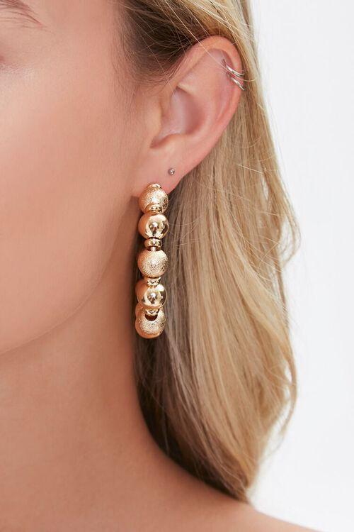 Ball Hoop Earrings, image 2