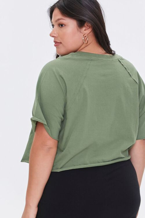 OLIVE Plus Size Cropped Tee, image 3