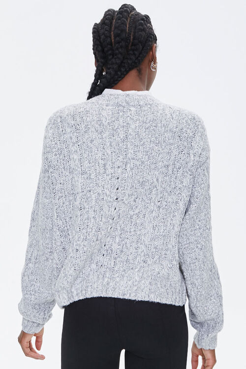 Cable Knit Button-Front Cardigan, image 3