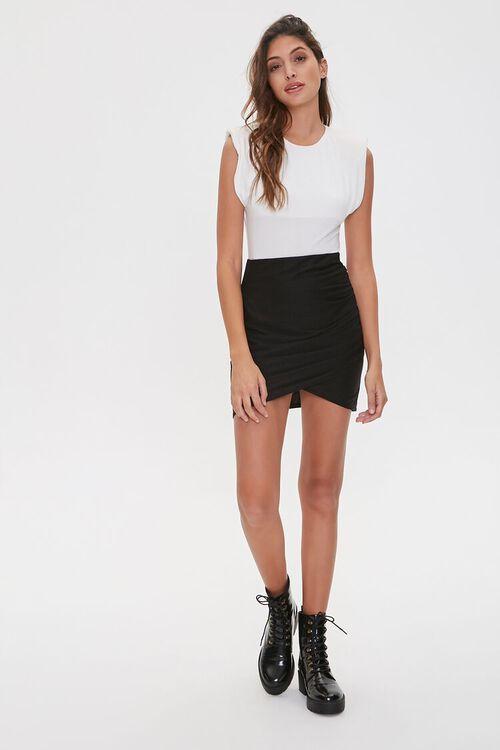 Ruched Tulip-Hem Mini Skirt, image 5