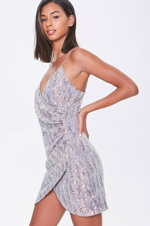 Metallic Sequin Bodycon Dress, image 1