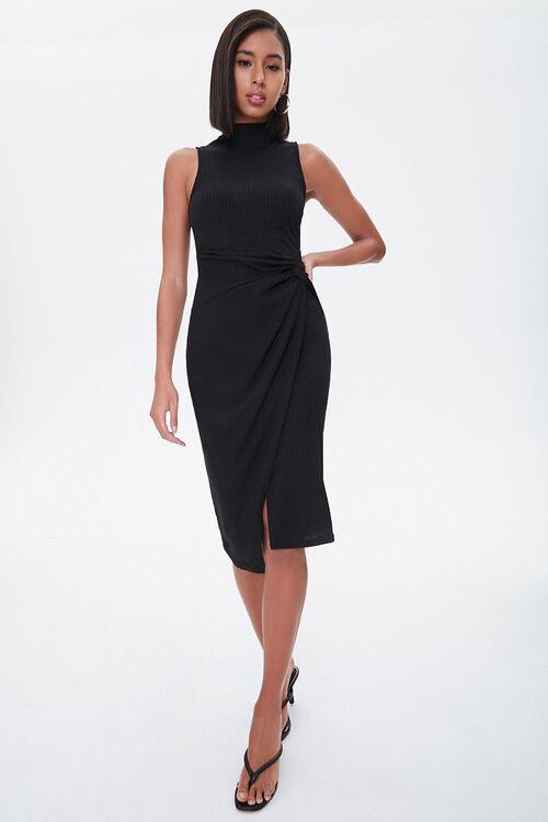 Ribbed Twisted Midi Dress, image 4