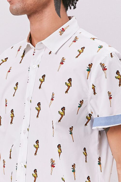Hula Girl Print Fitted Shirt, image 5