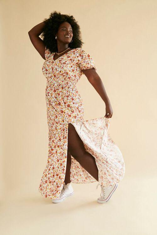 Plus Size Floral Print Maxi Dress, image 1