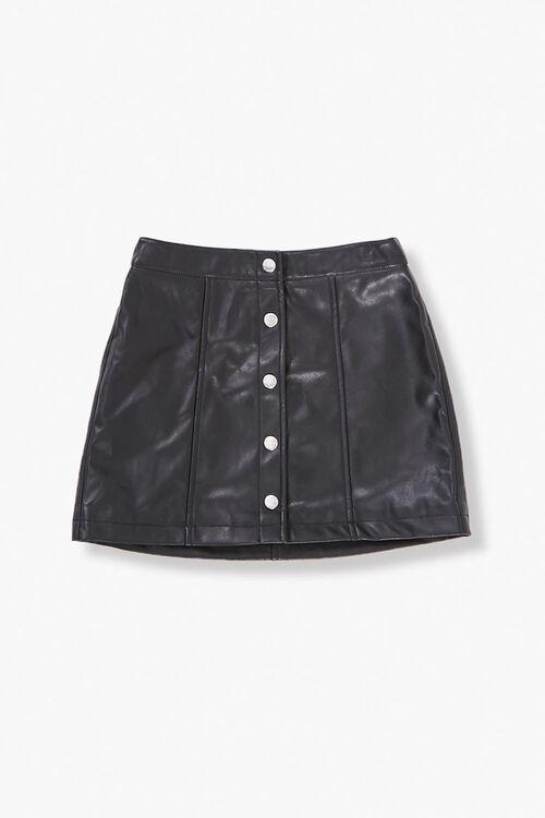 BLACK Girls Button-Front Skirt (Kids), image 1