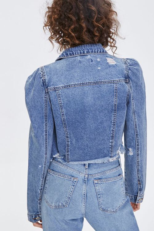 Distressed Cropped Denim Jacket, image 4