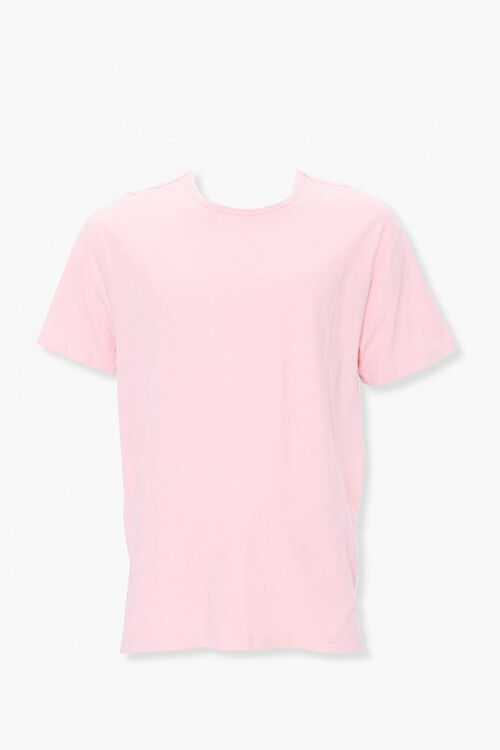 Vented High-Low Crew Neck Tee, image 1