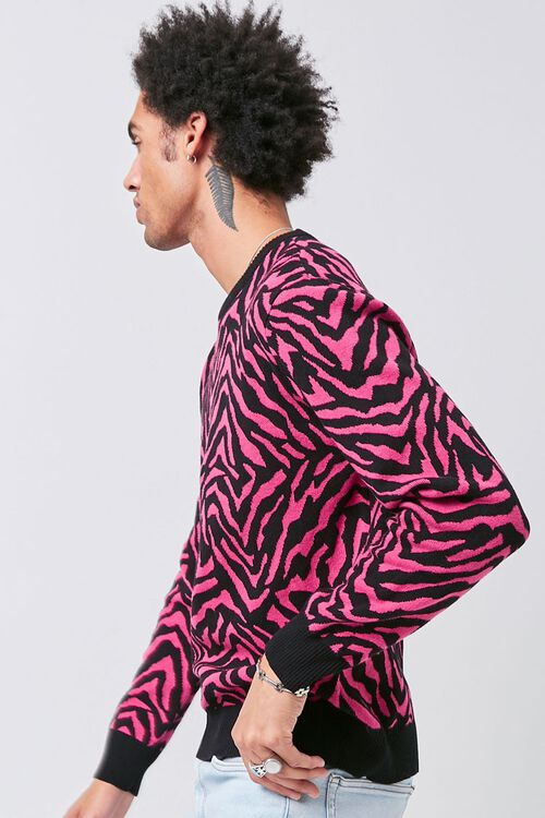 Tiger Striped Crew Neck Sweater, image 2