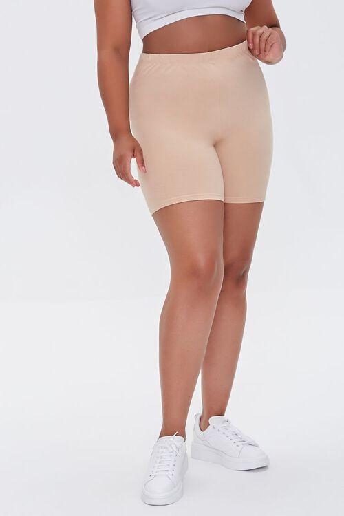 Plus Size Basic Biker Shorts, image 2