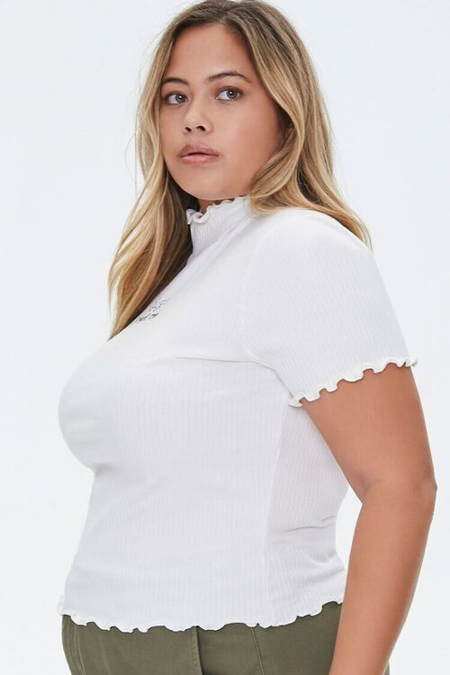 Plus Size Angels Only Lettuce-Edge Tee, image 2