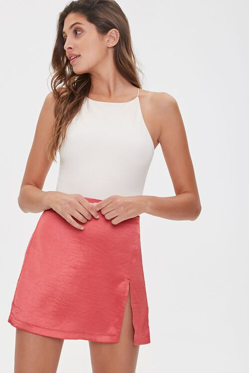 Satin Mini Skirt, image 1
