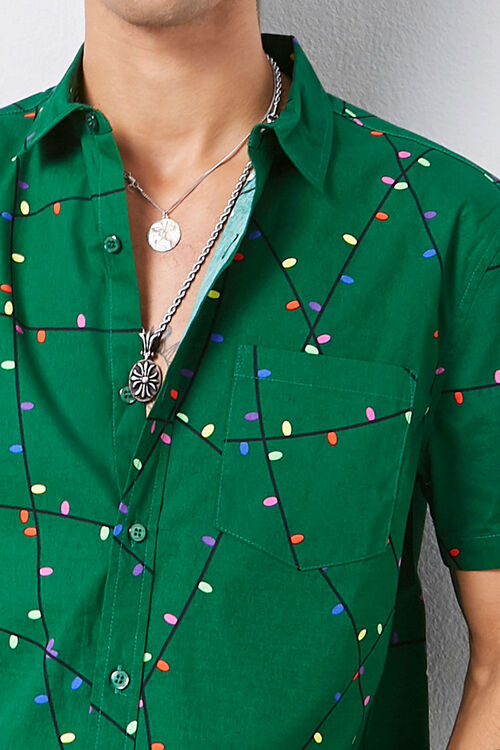 Christmas Lights Print Shirt, image 5