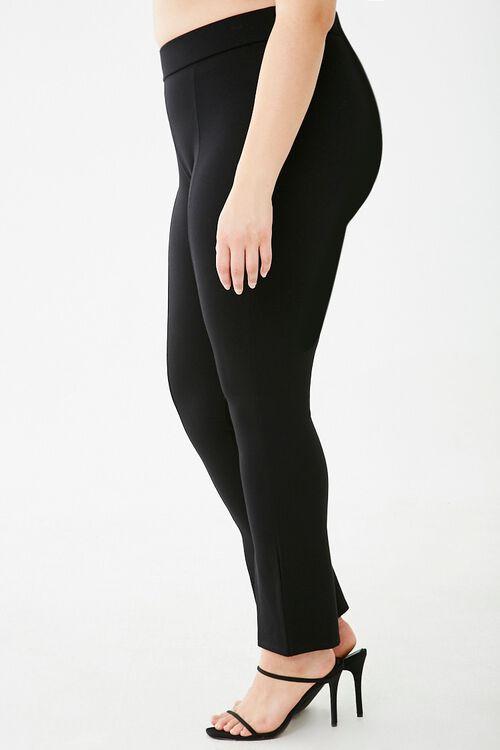 Plus Size Split-Hem Leggings, image 3
