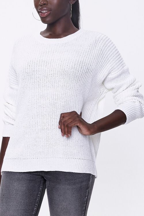 Ribbed Drop-Sleeve Sweater, image 1