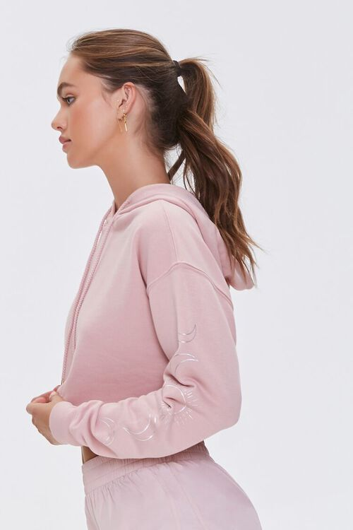 Active Cropped French Terry Hoodie, image 3