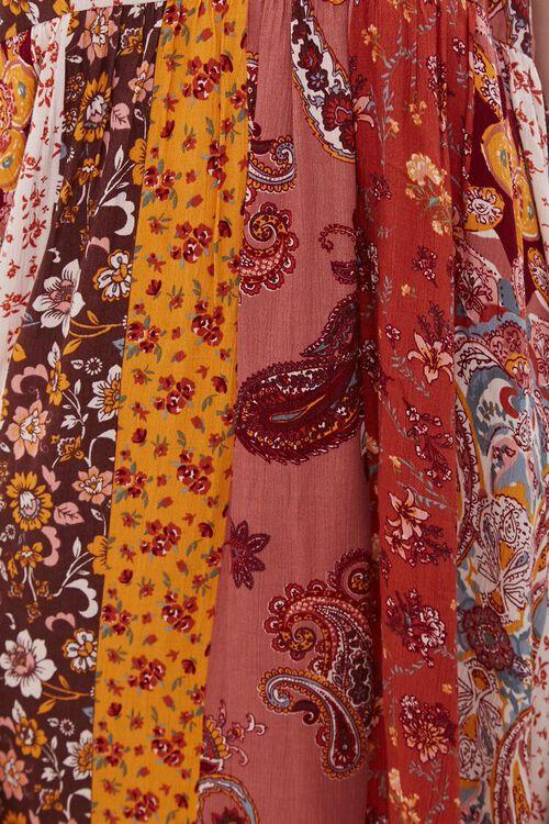 RUST/MULTI Patchwork Cami Mini Dress, image 5