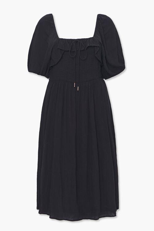Plus Size Smocked Peasant Dress, image 1