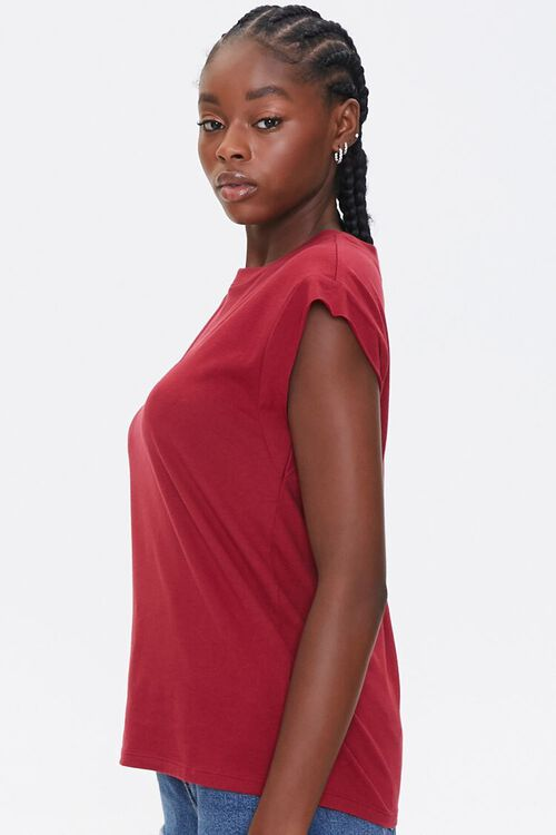 RED/RED Embroidered Bisous Tee, image 2