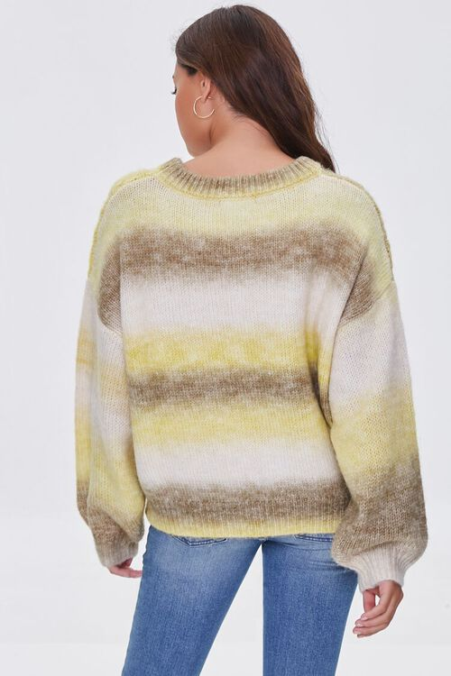 GREEN/MULTI Colorblock Cable Knit Sweater, image 3