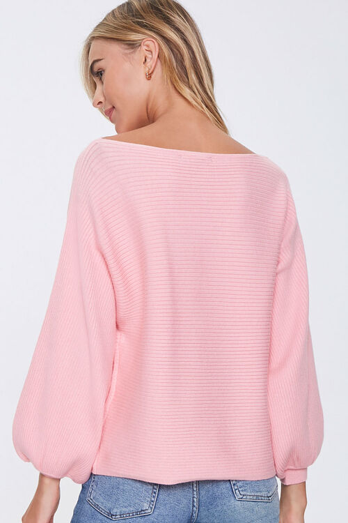 Ribbed Balloon-Sleeve Sweater, image 3