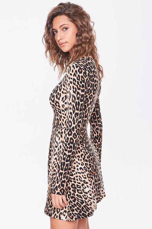Leopard Print Skater Dress, image 2