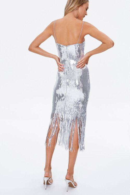 Sequin Fringe Cami Dress, image 3