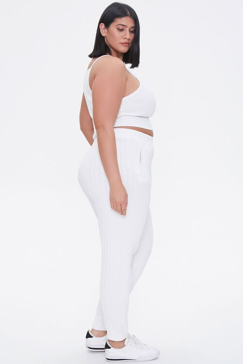 Plus Size Cropped Cami & Ankle Pants Set, image 2