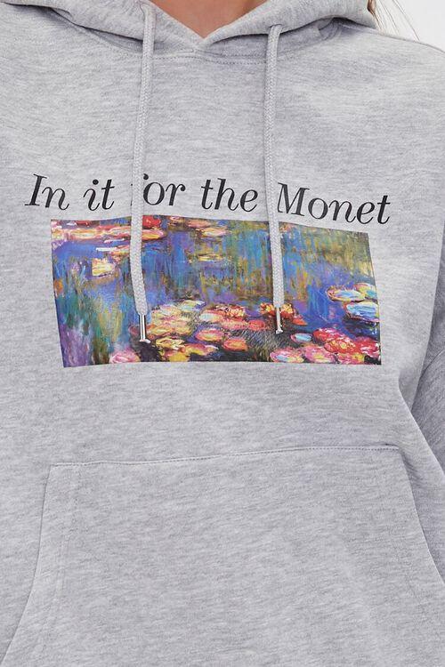 Monet Graphic Fleece Hoodie, image 5