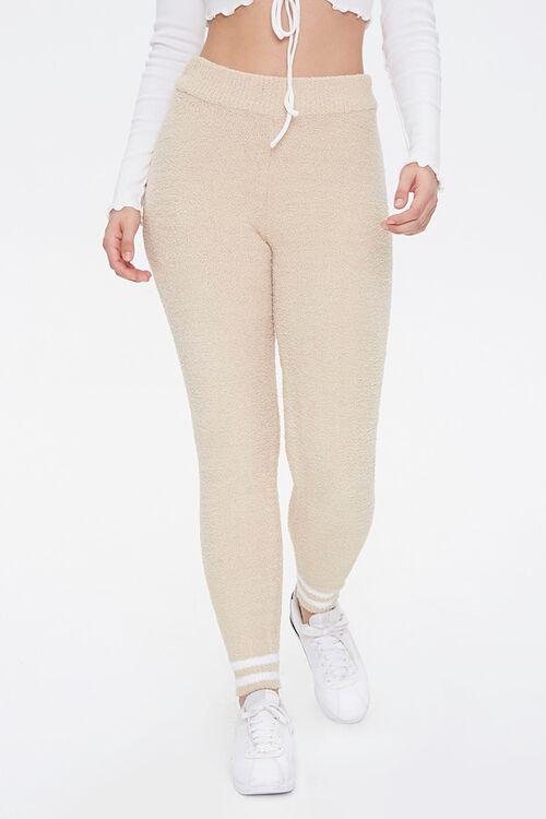 Varsity-Striped Sweater-Knit Leggings, image 2