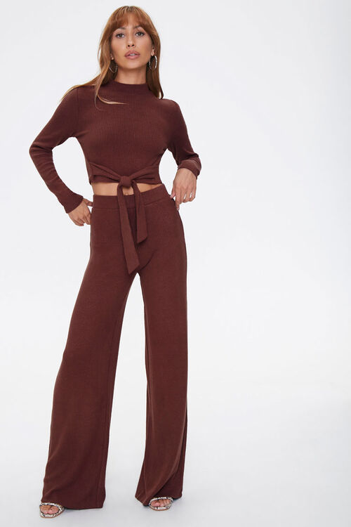 Crop Top & Flare Pants Set, image 1