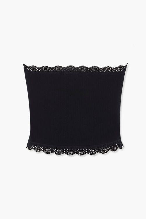 Ribbed Crochet-Trim Tube Top, image 3