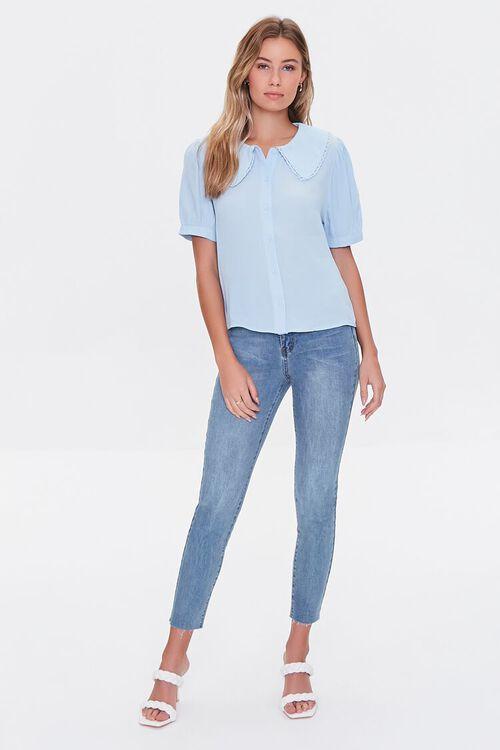 Puff-Sleeve Button-Up Shirt, image 4
