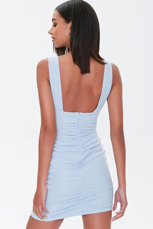 Plunging Ruched Mini Dress, image 3